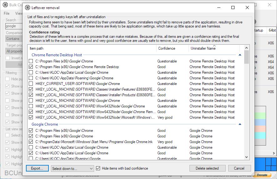 Bulk Crap Uninstaller Portable screenshot